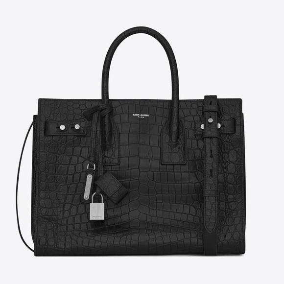 Saint Laurent Handbags - Saint Laurent Sac De Jour - Croc *Like New*